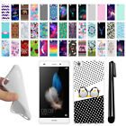 "For Huawei P8 Lite 5"" TPU SILICONE Rubber Soft Protective Case Cover + Pen"