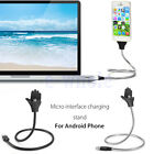 Flexible Stand up USB Charging Sync Data Cable Chargering Holder For Phone WS