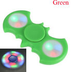 Fidget Hand Spinner Finger Purple Flower LED Flash Gyro Toy EDC ADHD Autism