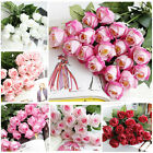 20pcs Real Touch Latex Rose Flowers For Wedding Bouquet Home Party Decoration