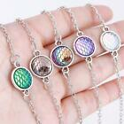 Mermaid Scales Fish Round Ankle Chain Anklet Cute Colorful Crystal Jewelry
