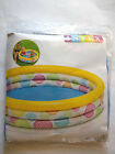 "Intex Inflatable Kid Pools 114x25 cms 45""x10"" Three Ring Pool with repair patch"