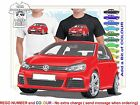 CLASSIC 2008-12 VW GOLF R ILLUSTRATED T-SHIRT MUSCLE RETRO SPORTS CAR