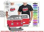 CLASSIC 67-78 VW KOMBI FRONT BACK ILLUSTRATED T-SHIRT MUSCLE RETRO SPORTS CAR