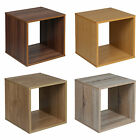 Square Cube BookCase Shelving Display Storage Wood Shelf Shelves Cube Cabinet