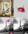 Xl Extra Long Quality Polyester White Paris Sexy Lips Shower Curtain 180 200