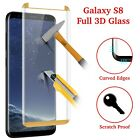 For Samsung Galaxy S8 Tempered Glass FULL COVERAGE Curved Screen Protector
