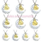 FAMILY MEMBER I Love You To The Moon & Back Pendant On Necklace Set ~ Great Gift