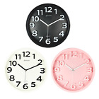Modern 3D Numbers Large Wall Clock Silent Non-Ticking Quartz Art Stylish 13-Inch
