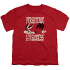 Coyote vs Roadrunner PERSISTENCE the Key to Success Licensed Youth T-Shirt S-XL