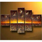 Oil Painting Hot 5PC Hand-Painted Light Of Hope On Canvas With Framed Decoration
