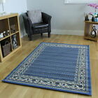 NEW BLUE CLASSIC TRADITIONAL RUG SMALL LARGE RUG SOFT EASY CLEAN LIVING ROOM MAT