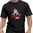 Beast Mode Weightlifter Body Builder Muscle Gym Motivation Black T Shirt
