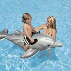 Inflatable Float Ride-On Dolphin Swimming Pool Toy For Kids Rideable Large