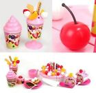 Kids Role Play Toys Kitchen Icecream And Tea Fruit Cutting Set Birthday Cake