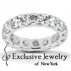3.85CT Certified Round Brilliant Cut Diamond Eternity Wedding Band Ring in 14kt