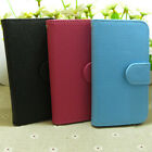 1x Classic Litchi Skin Wallet Stander flip case cover for LG Cell Phone
