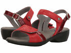 Wolky Womens AGUA Red Canals Leather Open Toe Walking Sandals 777450