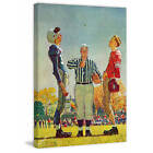 Marmont Hill Coin Toss by Norman Rockwell Painting Print on Canvas