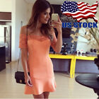 Sexy Women Casual Lace Midi Dress Short Sleeve Bodycon Evening Cocktail Fashion
