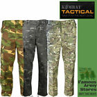 UTP Black Camo Combat Cargo Work Trousers Mens Military Army Pants Special Ops