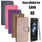 Diary Wallet Style Folio Flip Flap Cover Case For Lava Iris X8