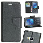 BLACK DIARY WALLET STYLE FLIP FLAP COVER CASE For SAMSUNG METRO XL B355E B 355 E