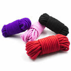 3 Soft Cotton Ropes - 5 metres (16ft) each rope- Black Red Purple Pink