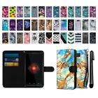 For Motorola Droid Mini XT1030 Ultra Slim Canvas Wallet Pouch Case Cover + Pen