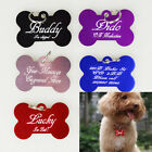 Luxury Engraved Dog Bone Pet Name Id Tag Cat puppy collar disc disk Number 38mm