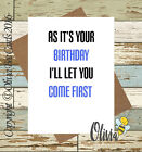 Greetings Card Birthday / Adult / Funny / Humour / Comedy / Olivia Bee / #114