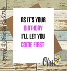 Greetings Card Birthday / Adult / Funny / Humour / Comedy / Olivia Bee / #115
