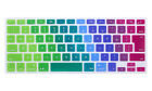 Foreign Language Rainbow Keyboard Protector Cover Skin For Mac Pro Air 13 15 17