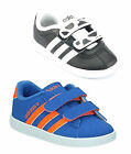 Adidas infants court Animal Derby Trainers Black White Blue