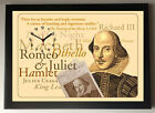 Shakespeare 400 Year AnniversaryA4 Picture Clock