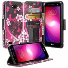 LG X CHARGE Design Wallet Credit Card ID Cash Stand Flip Phone Case Cover