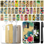 For LG K7 Tribute 5 LS675 MS330/ M1 Slim Sparkling Gold TPU Case Cover + Pen