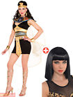 Ladies Deluxe Queen Cleopatra Costume Adults Egyptian Fancy Dress Womens Goddess