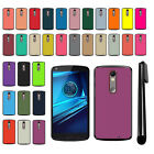 For Motorola Droid Turbo 2 Kinzie XT1585 Color Slim Hard Back Cover Case + Pen