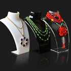 Acrylic Mannequin Bust Jewelry Necklace Pendant Neck Model Stand Holder Display