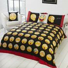 Emoji Icons Reversible Duvet/Quilt Cover With Pillow Cases