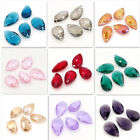 faceted glass beads - Wholesale Faceted Teardrop Crystal glass Loose beads Pendants DIY 16mm22mm28mm