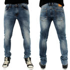 Streetwear Ace Low Skinny Stretch Denim Jeans Stone Wash B118