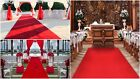 RED CARPET WEDDING RUNNER AISLE CHEAP PRICE ALL SIZE EXTRA LONG RUG