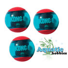 Red Kong Squeezz Action Ball Multi-Textured Fetch Toy Dog Puppy Choose Size
