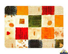 Glass Chopping Board Retro Patchwork Multi Abstract Kitchen Worktop Space Saver