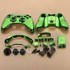 W6 Green Chrome Custom Wireless Controller Replacement Shell Case for Xbox 360