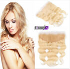 Peruvian 613# Blonde Lace Frontal Closure with Baby Hair 100% Human Hair 13*4