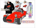 LOTUS 7 HOODIE ILLUSTRATED CLASSIC RETRO MUSCLE SPORTS CAR