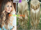 "15~22"" Popular Glueless Soft Wavy Weft Cap 100% Real Human Hair 3/4 Half Wigs"